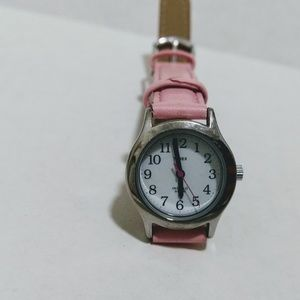 Timex Indiglo Pink Leather Watch